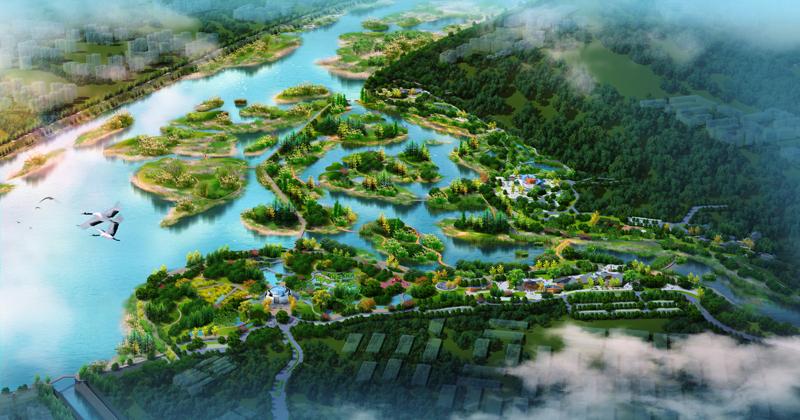 四川新津白鹤滩国家湿地公园修建性详细规划80亩景观规划